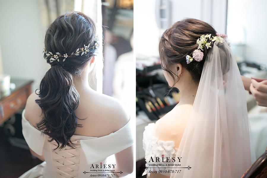 鮮花新秘,新娘秘書,愛瑞思,宜蘭冬山河香格里拉結婚,ariesy,白紗迎娶新娘造型,文定新秘