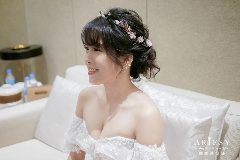 新秘推薦,新娘黑髮造型,編髮髮型,新秘花藝,新娘花藝造型