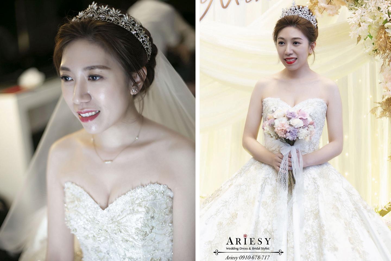 華麗新娘造型,新娘秘書,新秘,ARIESY,愛瑞思,中部新秘,清透妝感